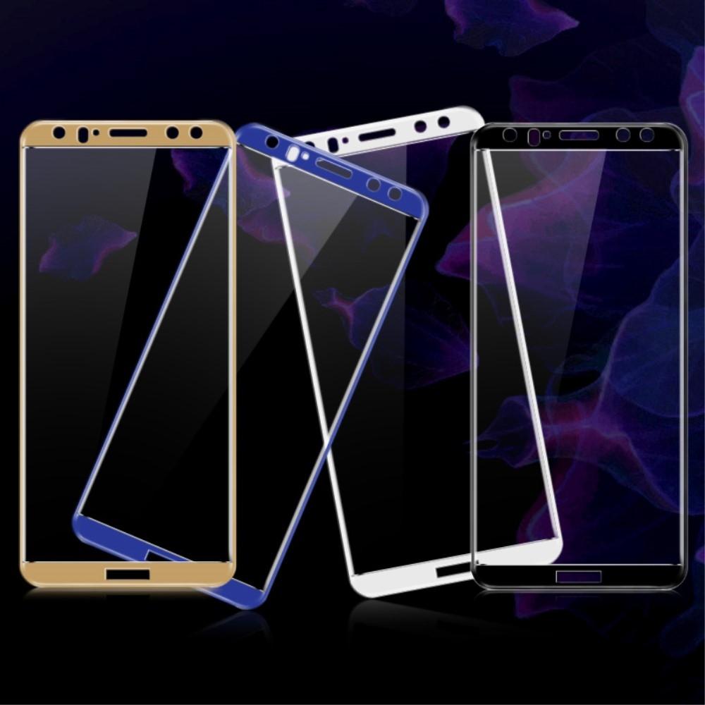 Huawei Mate 10 Lite - IMAK hærdet panserglas m/fuld dækning - Blå