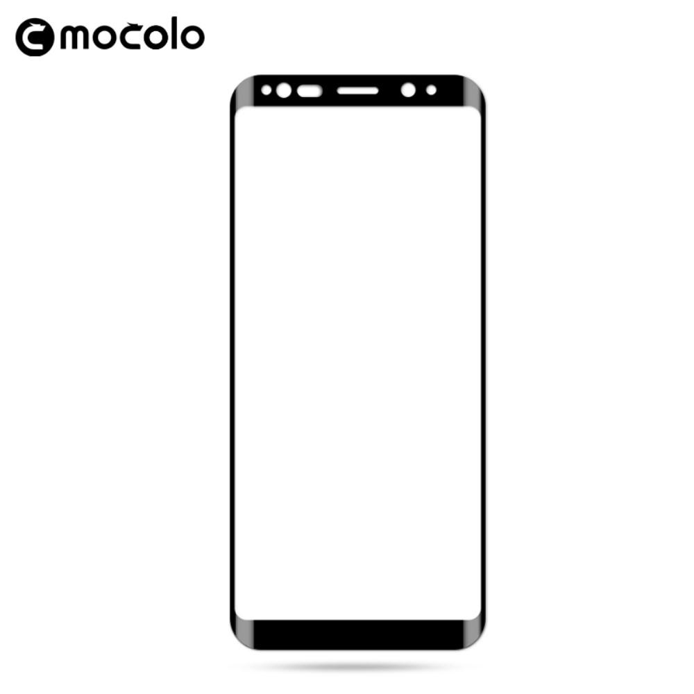 Samsung Galaxy S9 - MOCOLO hærdet panserglas curved m/fuld dækning - Sort