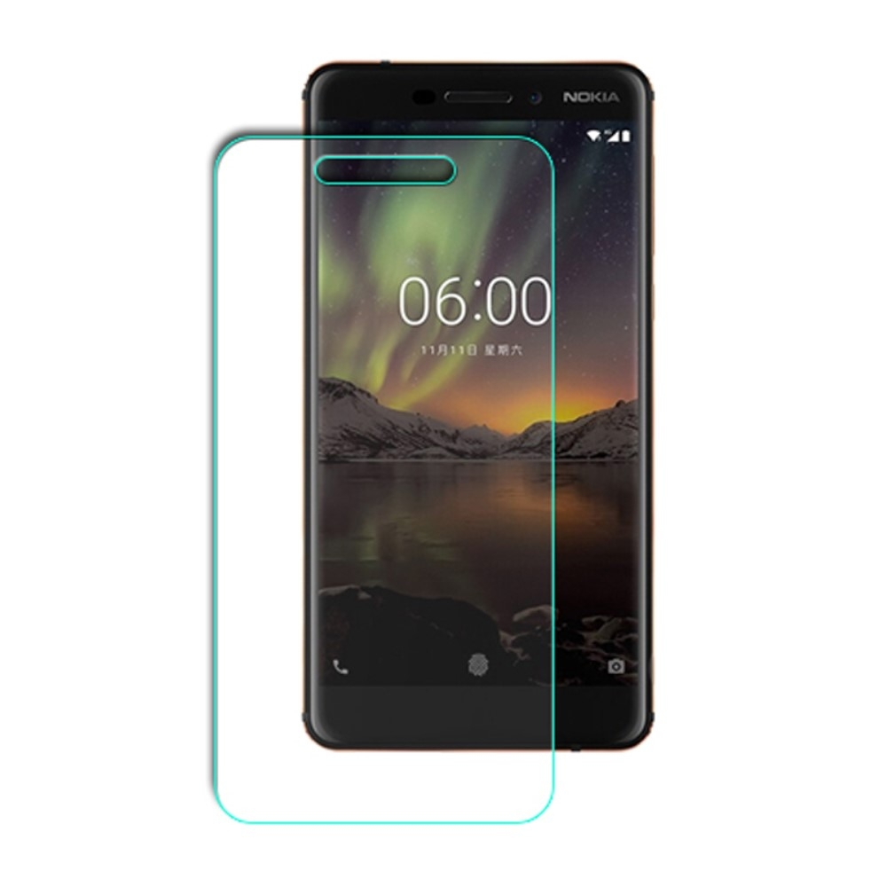 Nokia 6/6.1 (2018) - Hærdet panserglas 0.3mm (Arc Edge)