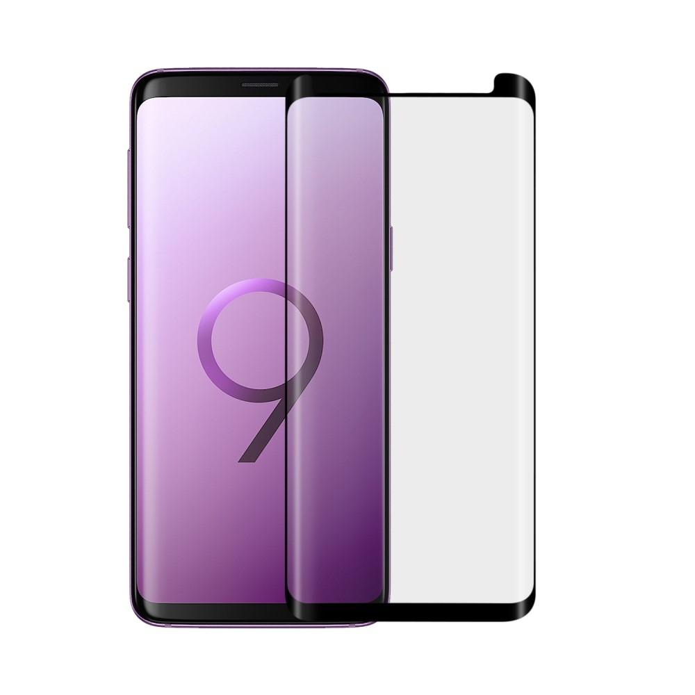 Samsung Galaxy S9 Plus - ANGIBABE 0.26mm curved hærdet panserglas - Sort