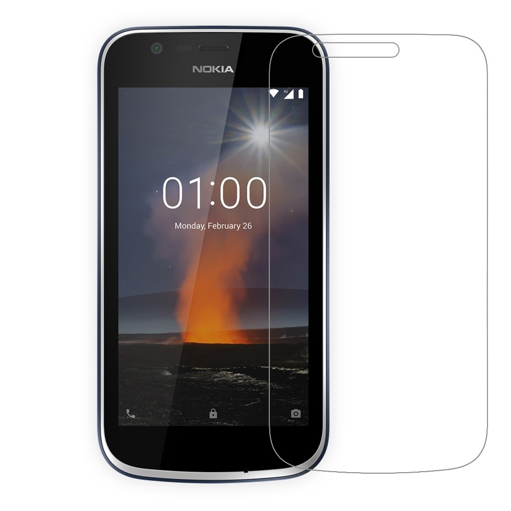 Nokia 1 - Hærdet panserglas 0.3mm (Arc Edge)