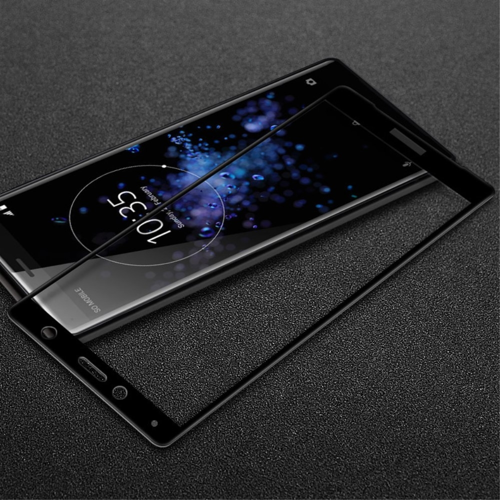 Sony Xperia XZ2 Compact - IMAK curved panserglas m/komplet dækning - Sort