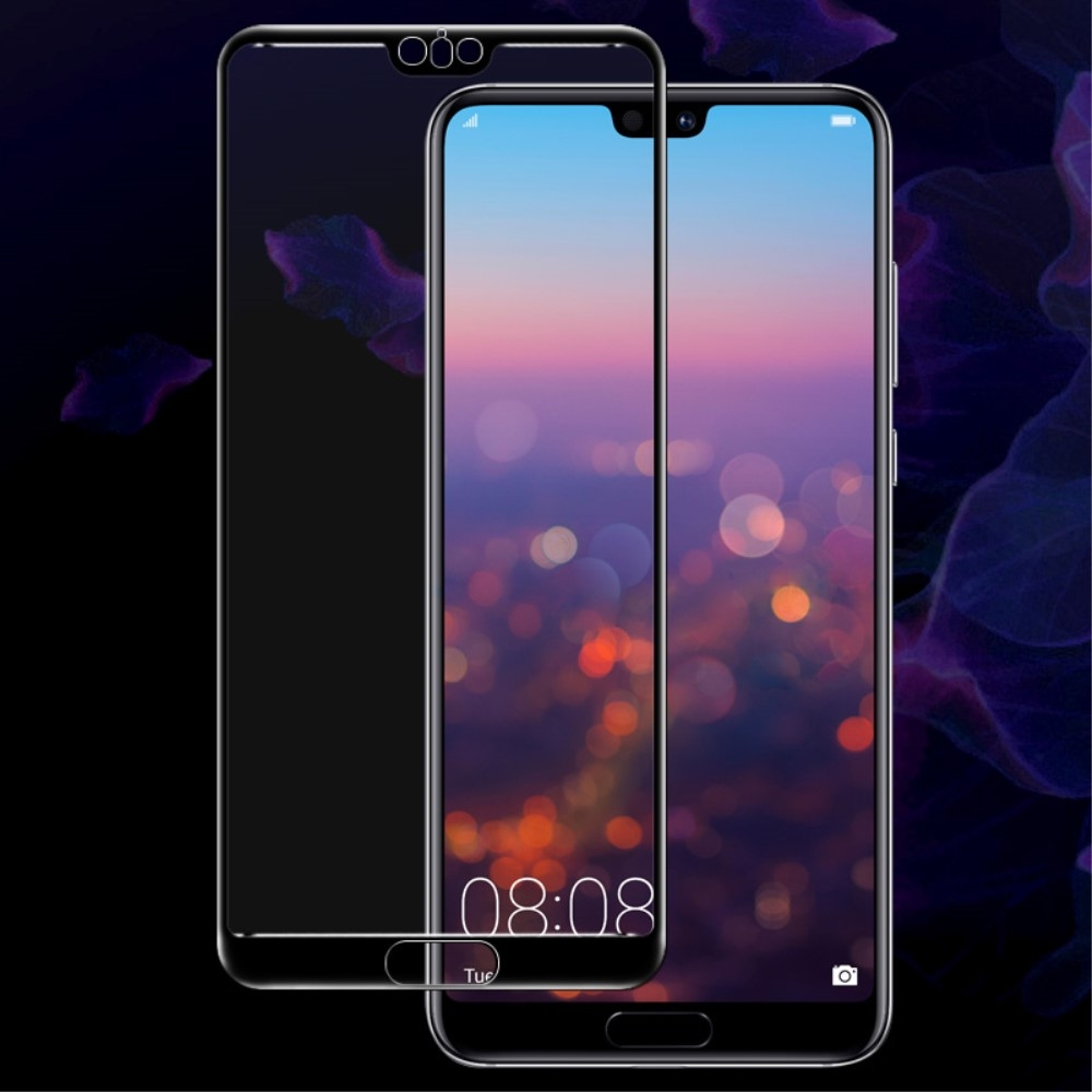 Huawei P20 Pro - IMAK panserglas m/komplet beskyttelses - Sort