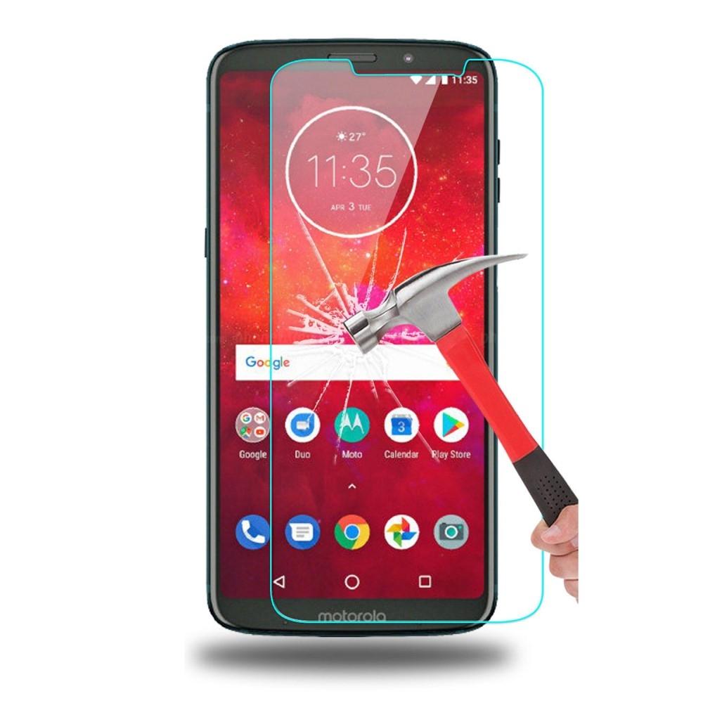 Motorola Moto Z3 Play - Hærdet panserglas 0,3mm.
