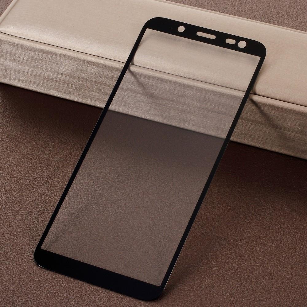 Samsung Galaxy J6 (2018) - Hærdet panserglas med komplet dækning - Sort