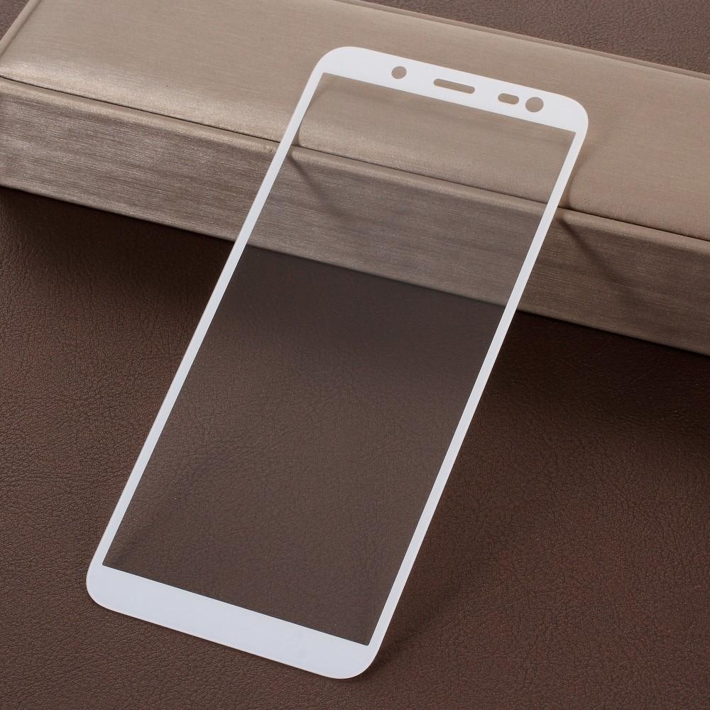 Samsung Galaxy J6 (2018) - Hærdet panserglas med komplet dækning - Hvid