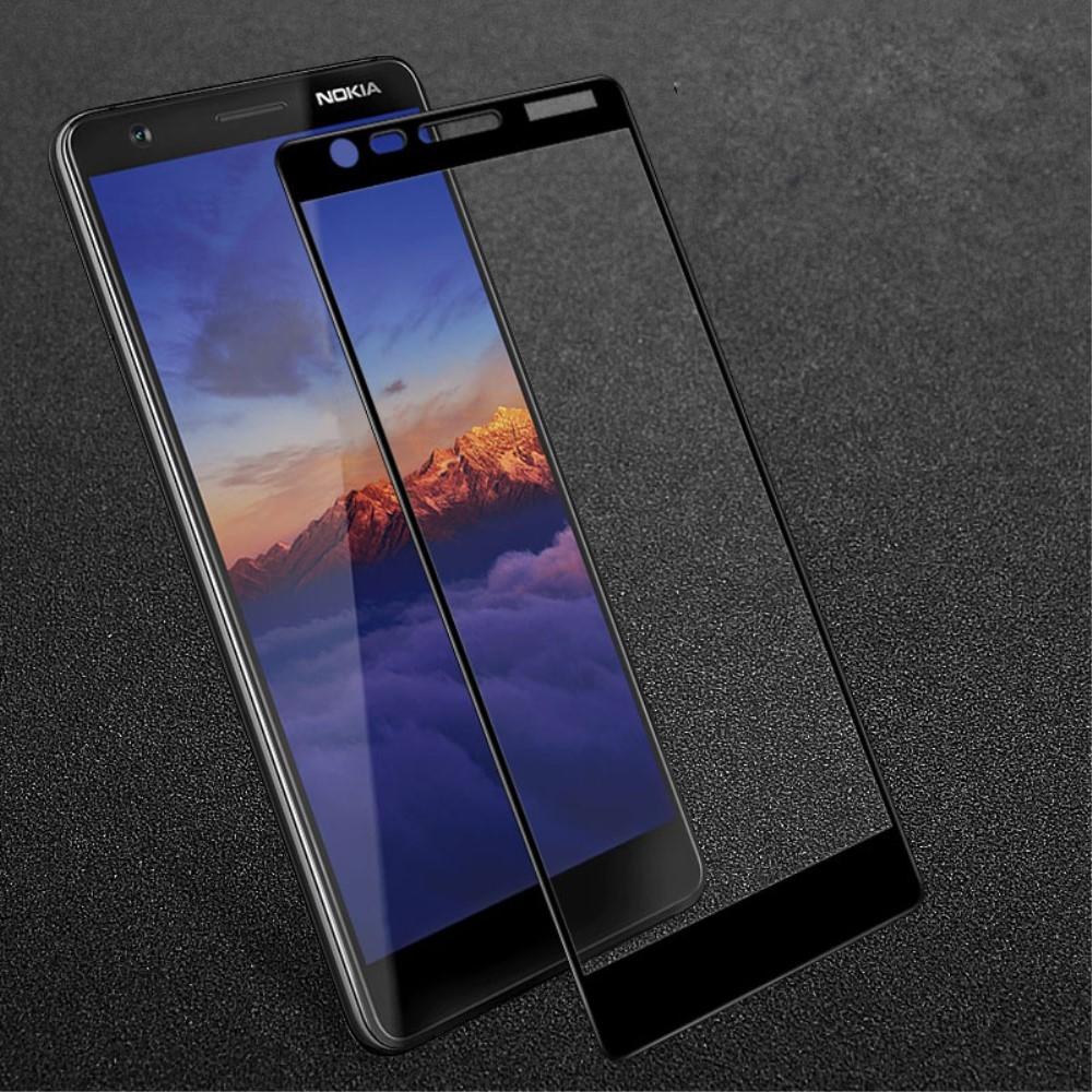 Nokia 3.1 - IMAK panserglas  m/komplet dækning - Sort