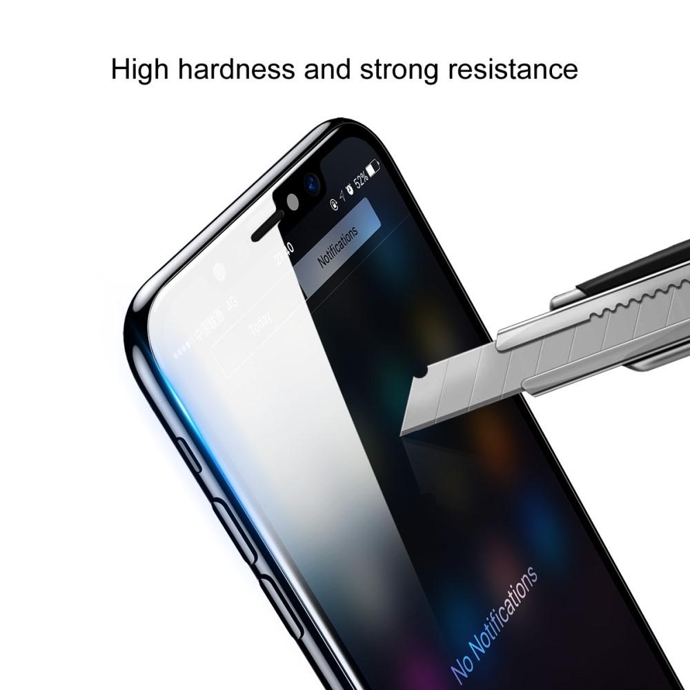 Billede af iPhone XS Max - BASEUS beskyttelsesglas (front+back) 0,3 mm m/komplet dækning - Transparent