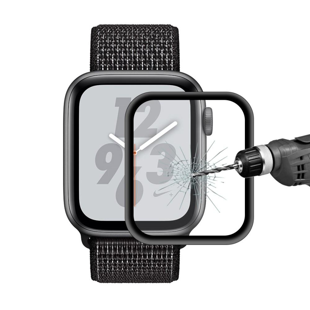 Billede af Apple Watch Series 5/4 - 44mm - HAT PRINCE beskyttelsesglas 0,2mm m/komplet dækning