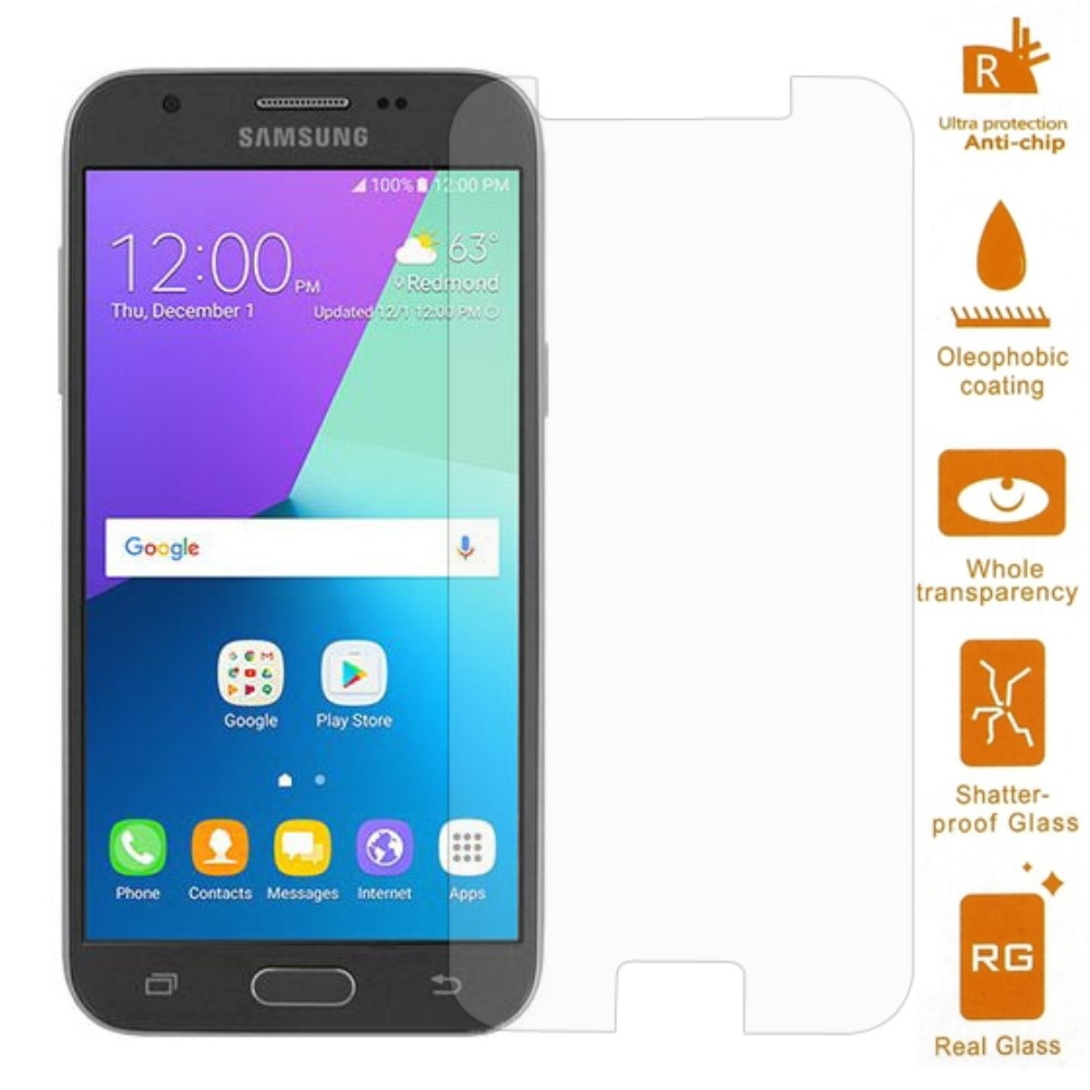 Samsung Galaxy J3 (2017) - Hærdet panserglas 0,3mm. (Arc Edge)