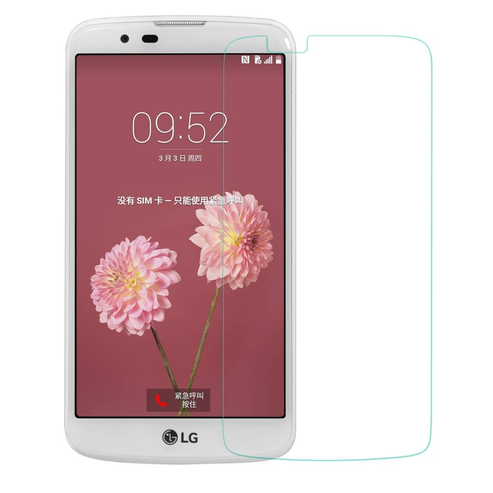 LG K10 (2017) - Hærdet panserglas 0,3mm. (Arc Edge)