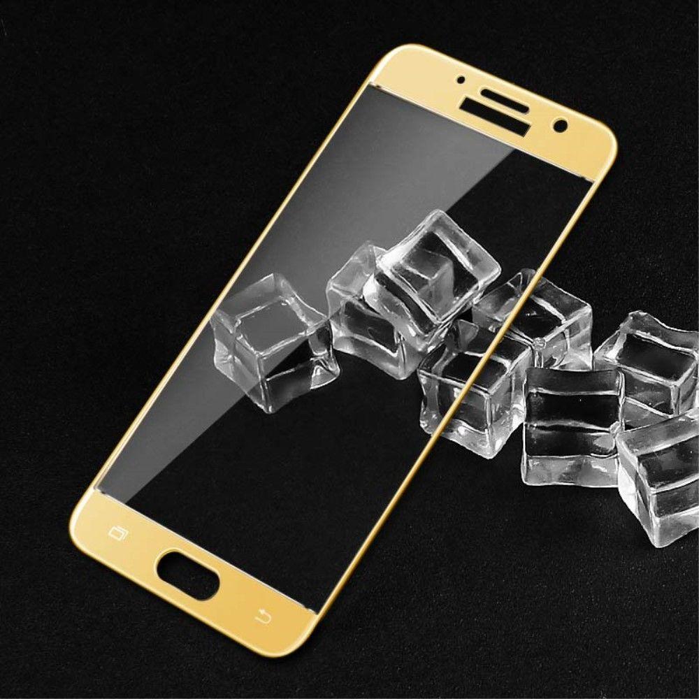 Image of   Galaxy A7 (2017) - IMAK hærdet panserglas 9H komplet dækning - Guld