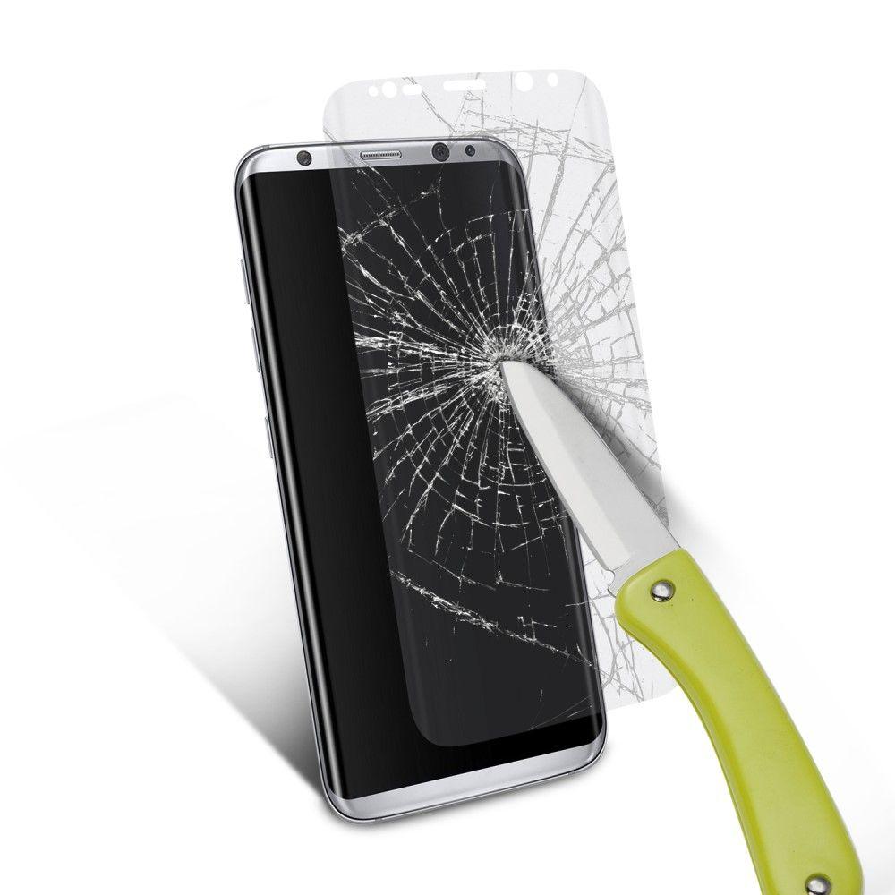 Image of   Galaxy S8 Plus - Hærdet panserglas 0,3 mm - fuld dækning
