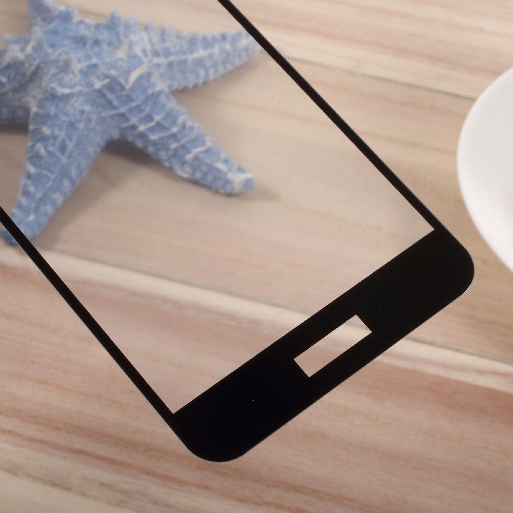 Huawei P10 Panserglas med fuld beskyttelse - SilkePrint - Sort