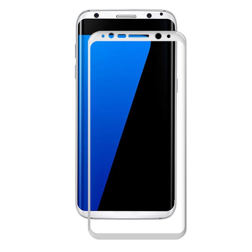 Image of   Galaxy S8 Plus Hærdet fuld beskyttelses Panserglas AMORUS - Silketryk - Hvid