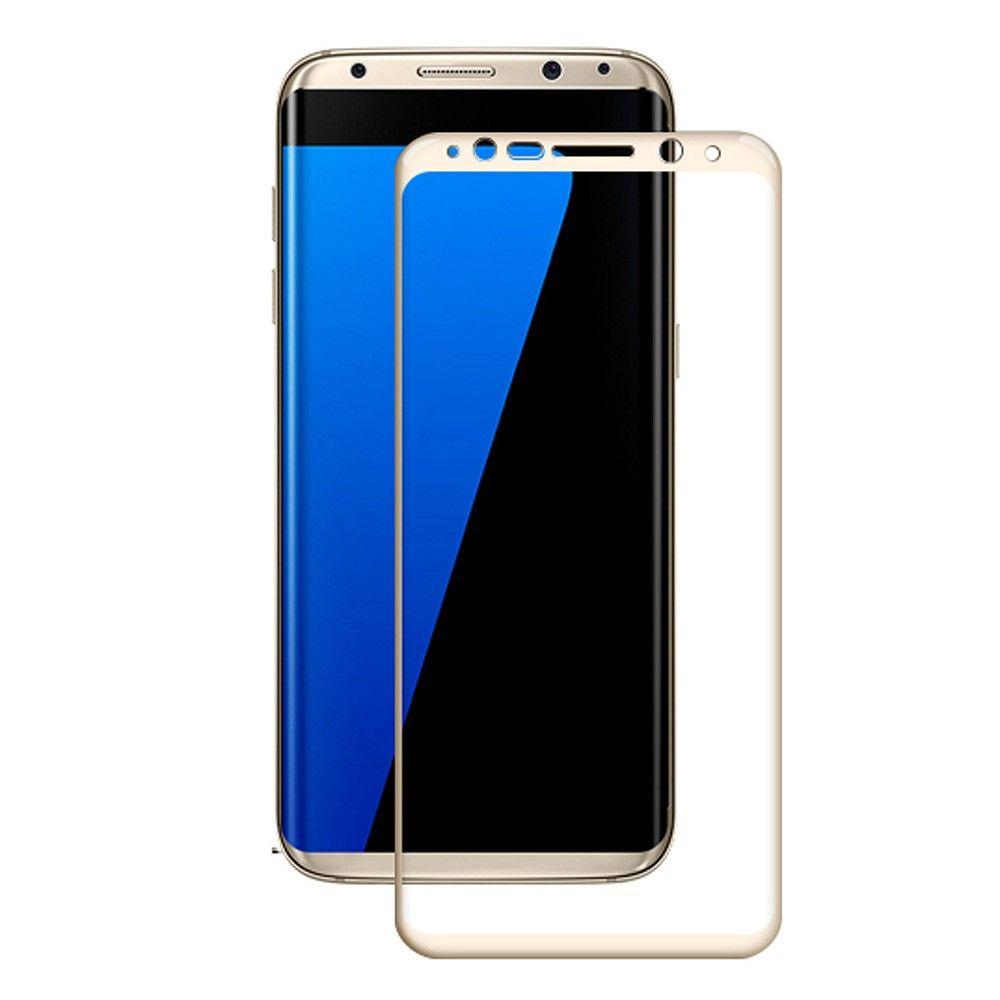 Image of   Galaxy S8 Plus - Hærdet panserglas med fuld beskyttelse AMORUS - Guld