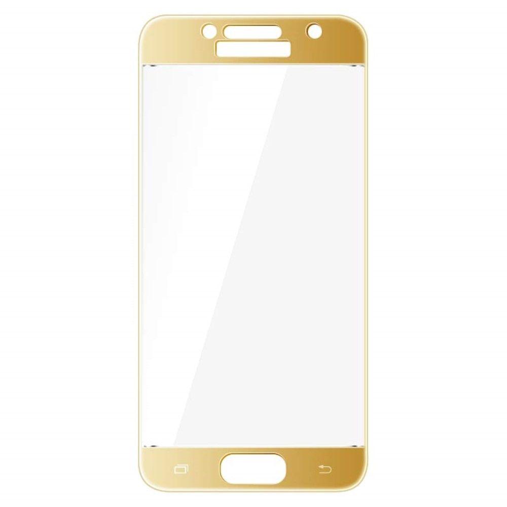 Image of   Galaxy A3 (2017) - IMAK hærdet panserglas komplet dækning - Guld