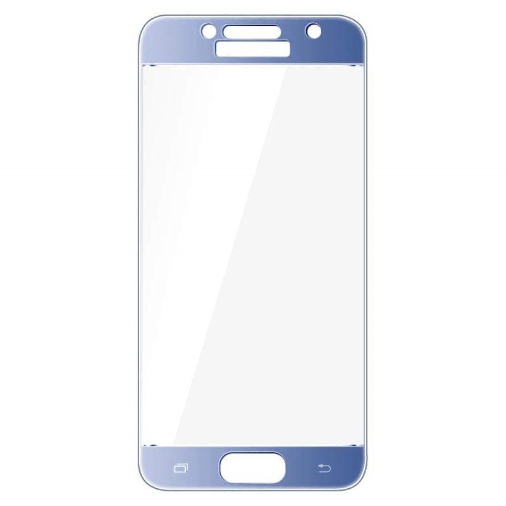 Image of   Galaxy A3 (2017) - IMAK hærdet panserglas komplet dækning - Blå