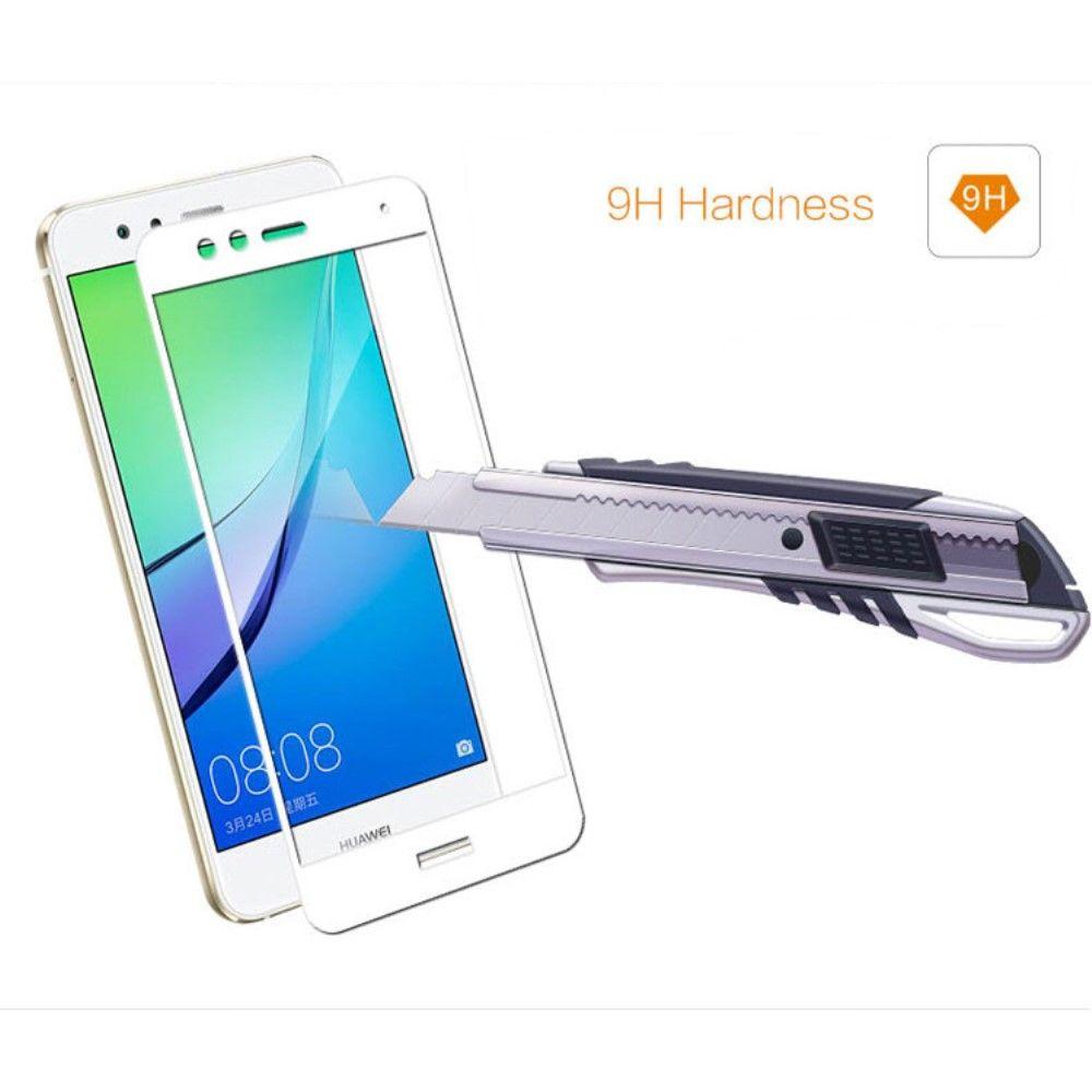 Huawei P10 Lite - MOCOLO Silk print panserglas m/komplet dækning - Hvid