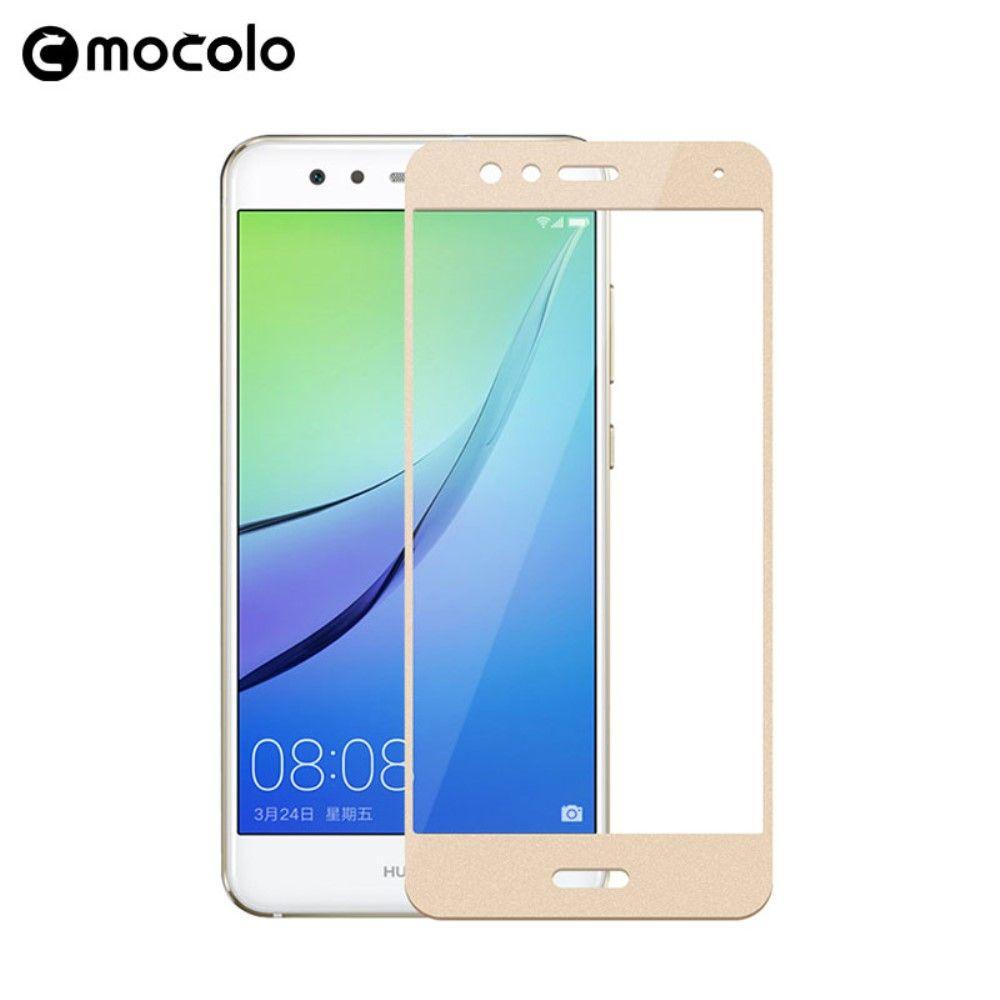 Huawei P10 Lite - MOCOLO Silk print panserglas m/komplet dækning - Guld