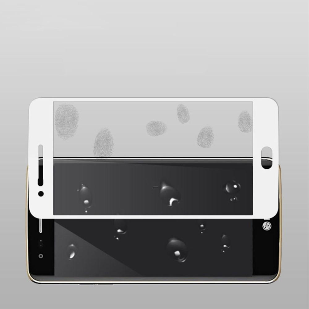 LG K10 (2017) - MOCOLO panserglas med komplet dækning - Hvid