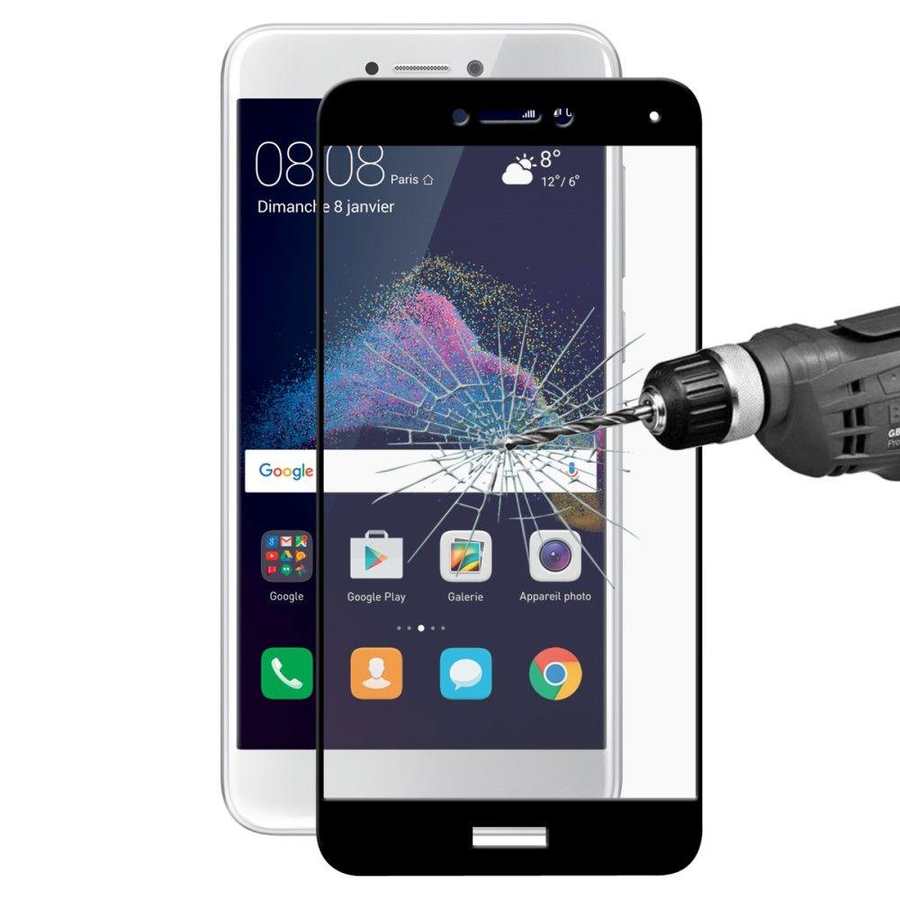 Huawei P8 Lite (2017) - HAT PRINCE panserglas m/komplet dækning - Sort