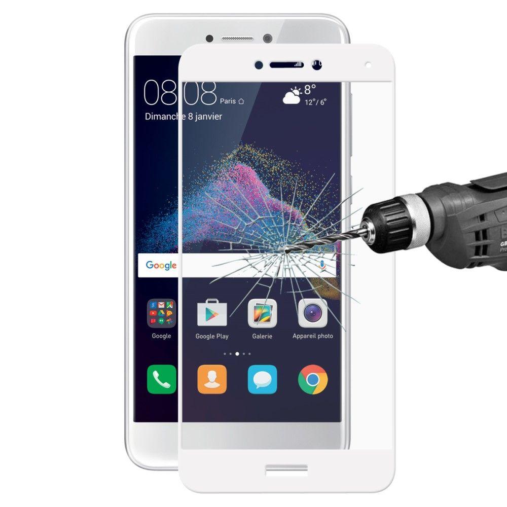 Huawei P8 Lite (2017) - HAT PRINCE panserglas m/komplet dækning - Hvid