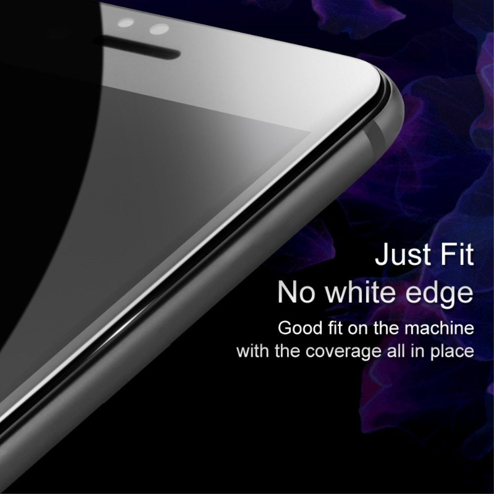 OnePlus 5 - IMAK hærdet panserglas m/komplet dækning - Sort