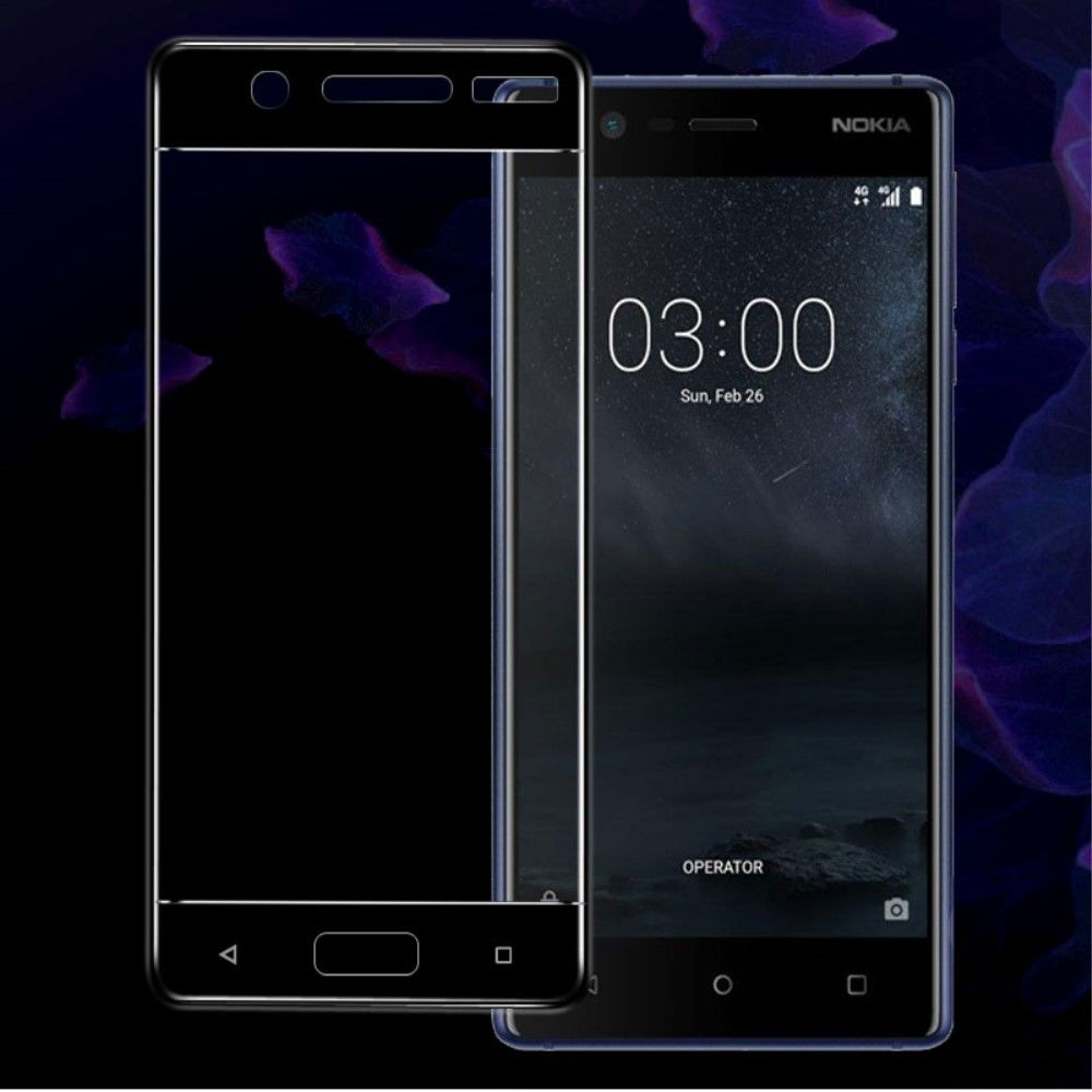 Nokia 5 - Hærdet panserglas 9H IMAK komplet dækning