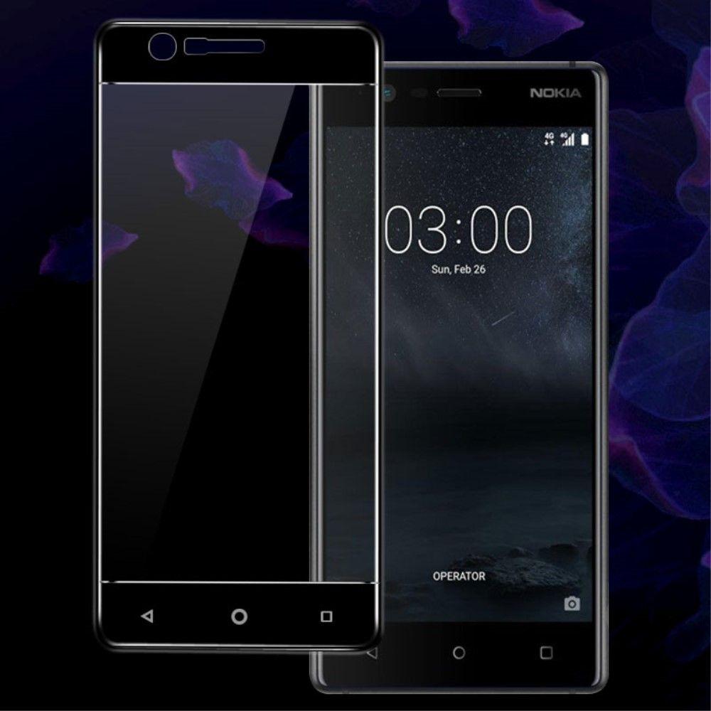 Nokia 3 - Hærdet panserglas 9H IMAK komplet dækning