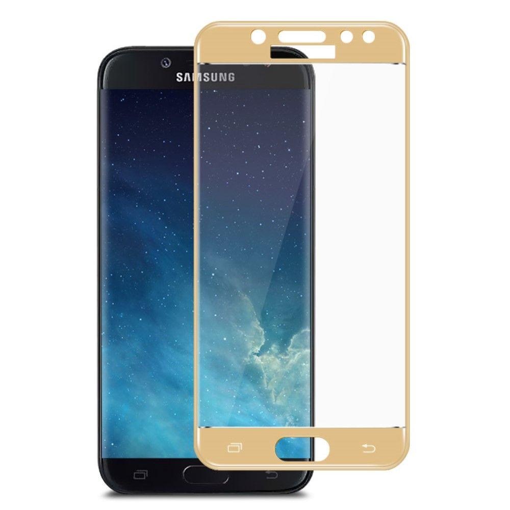 Image of   Galaxy J5 (2017) - Hærdet panserglas IMAK komplet dækning - Guld