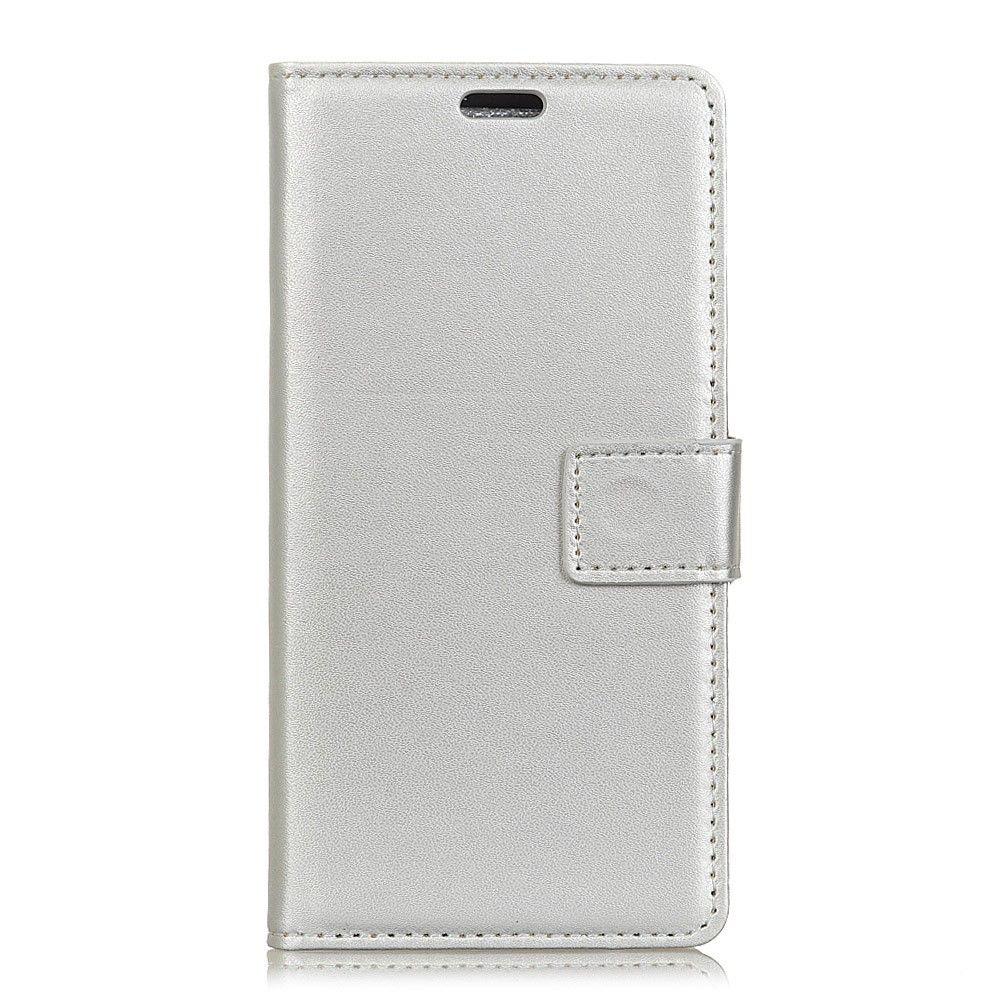 OnePlus 5T - Læder pung / cover - Sølv