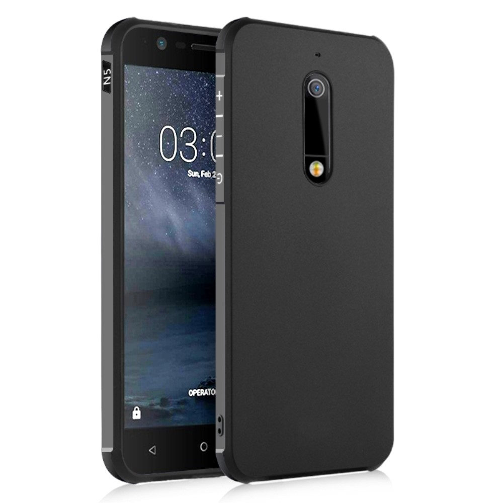 Nokia 5 - Drop-Proof gummi cover - Sort