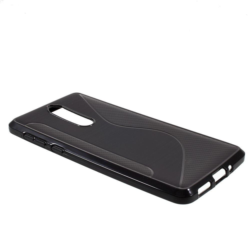 Nokia 8 - Blødt TPU cover S-Line - Sort