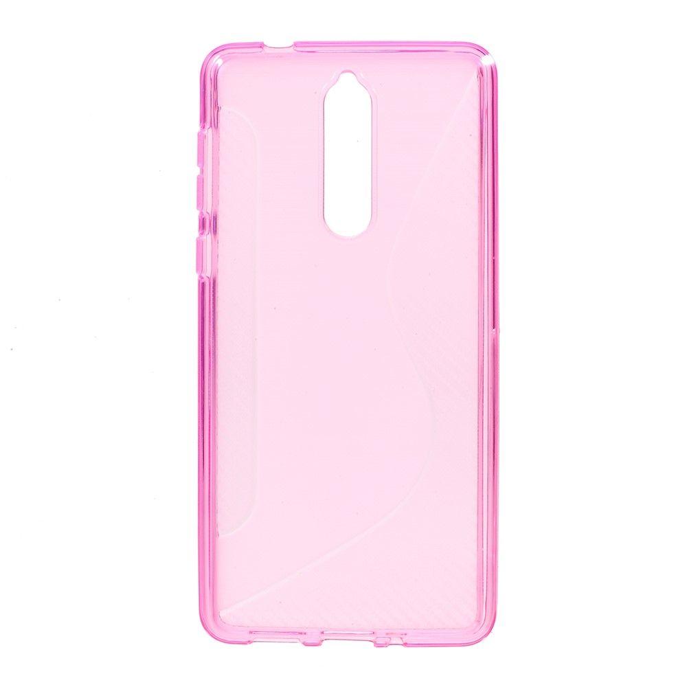 Nokia 8 - Blødt TPU cover S-Line - Rosa