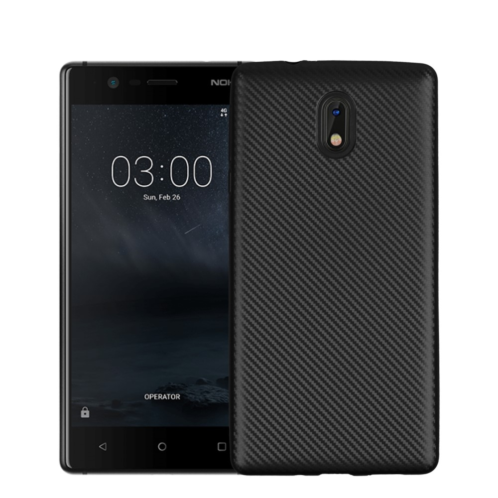 Nokia 3 - TPU blødt cover - Sort