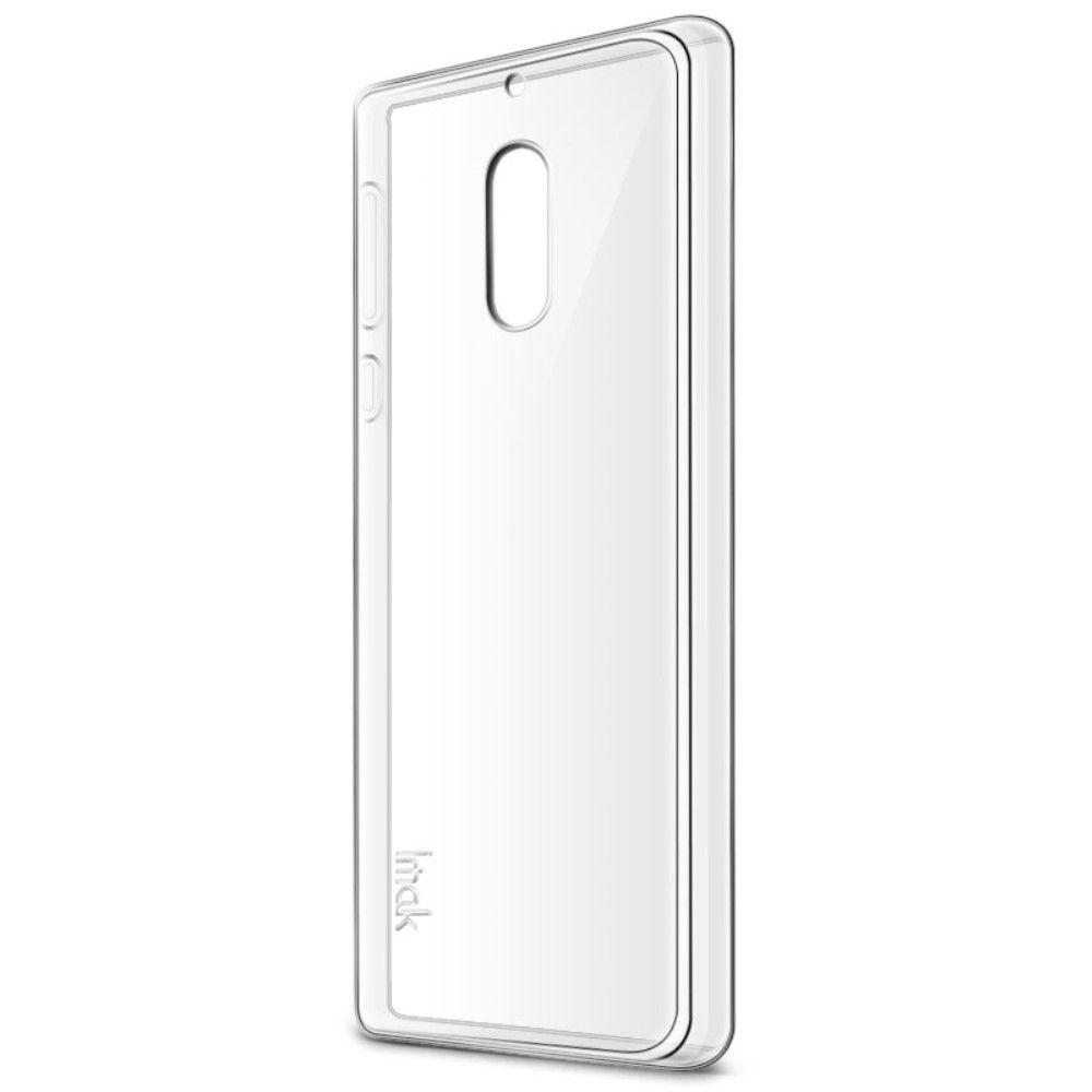 Nokia 6 (2017) - TPU klar blødt cover IMAK inkl. skærmbeskytter