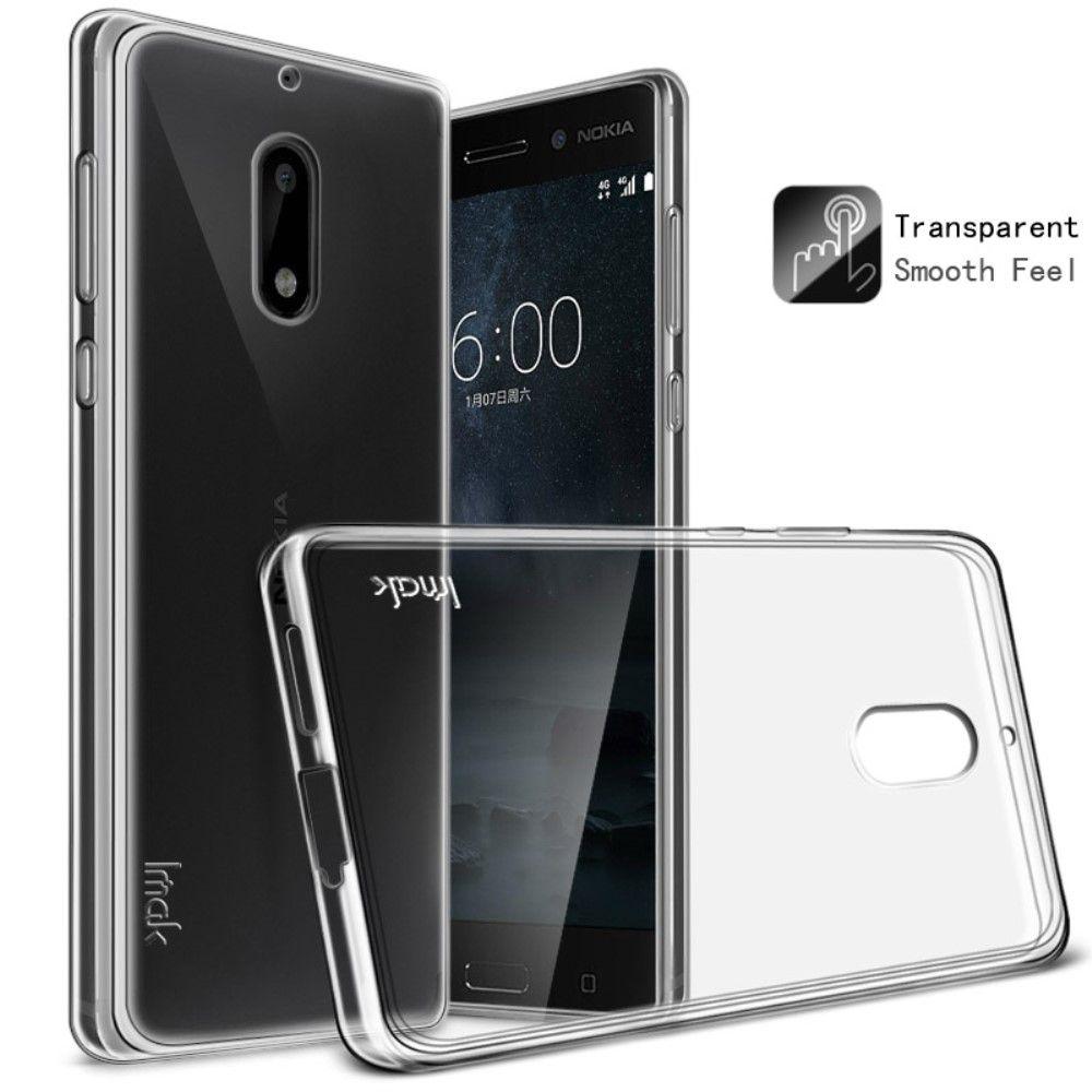 Nokia 6 (2017) - TPU blødt skin cover IMAK inkl. beskyttelsesfilm