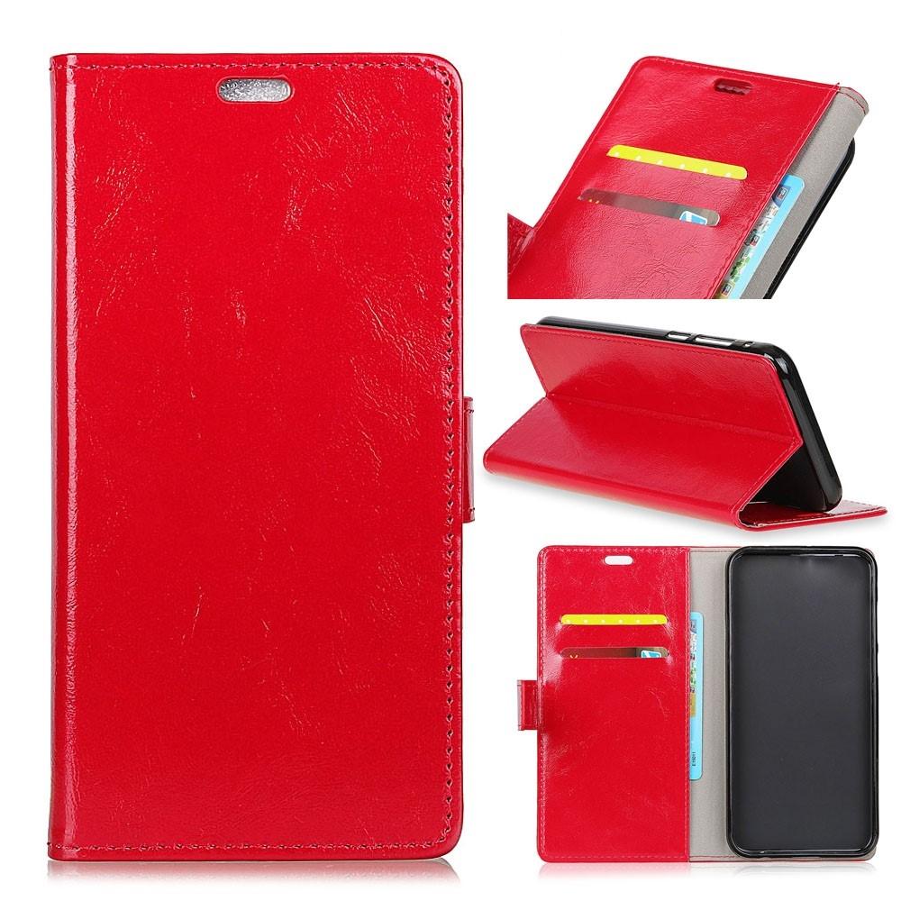 Nokia 3.1 - Læder cover / pung - Rød