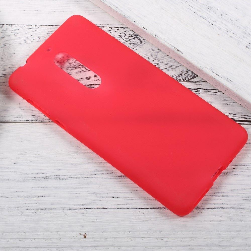 Nokia 5 - TPU gel cover dobbeltsidet - Rød