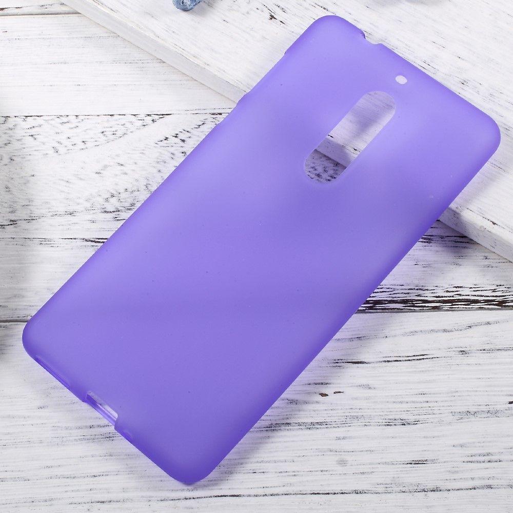 Nokia 5 - TPU gel cover dobbeltsidet - Lilla