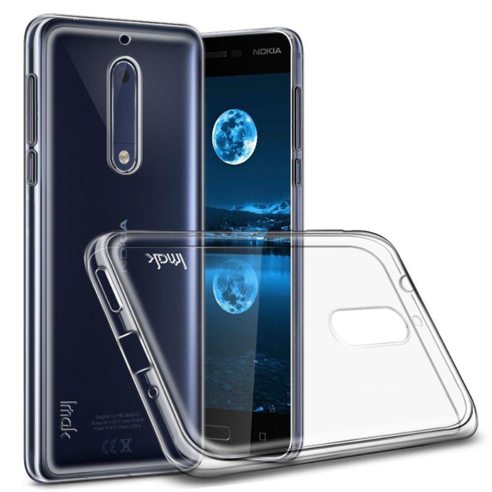 Nokia 5 - TPU klar cover IMAK inkl. beskyttelsesfilm