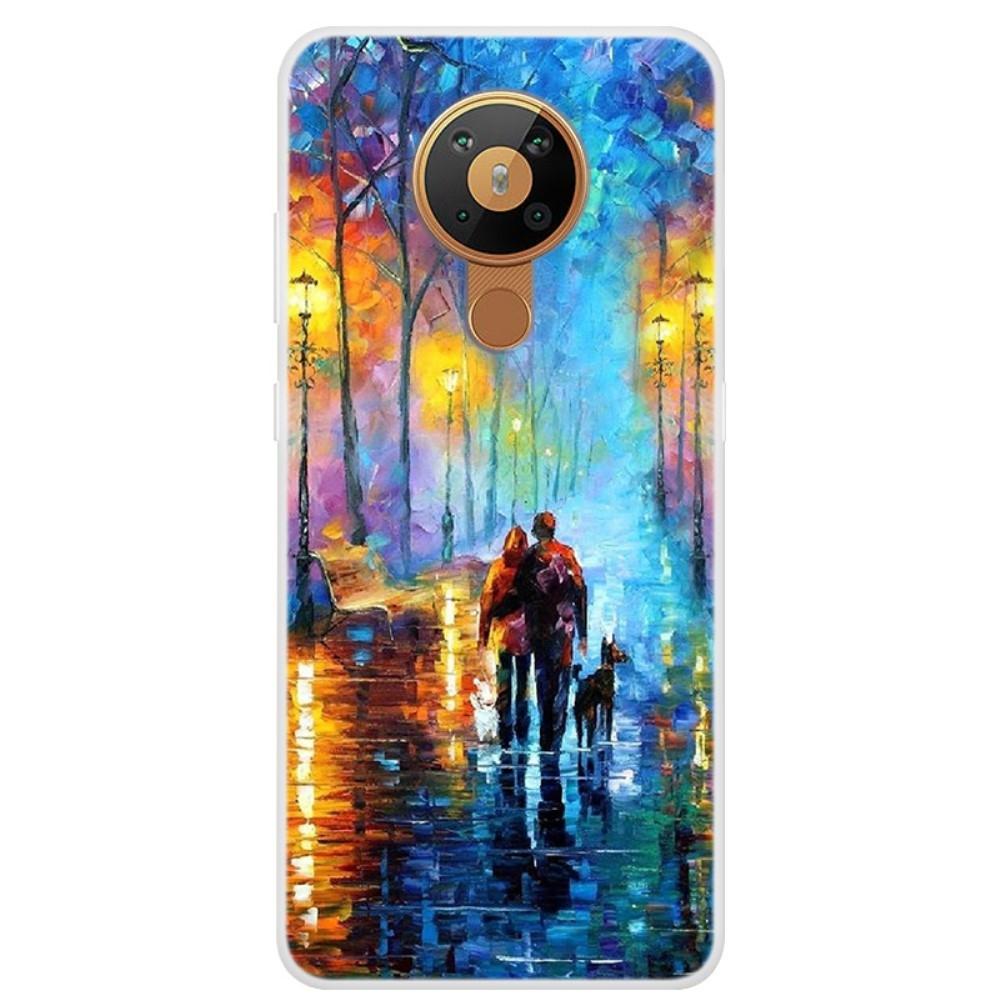 Nokia 5.3 - Gummi cover med printet Design - Par på gaden