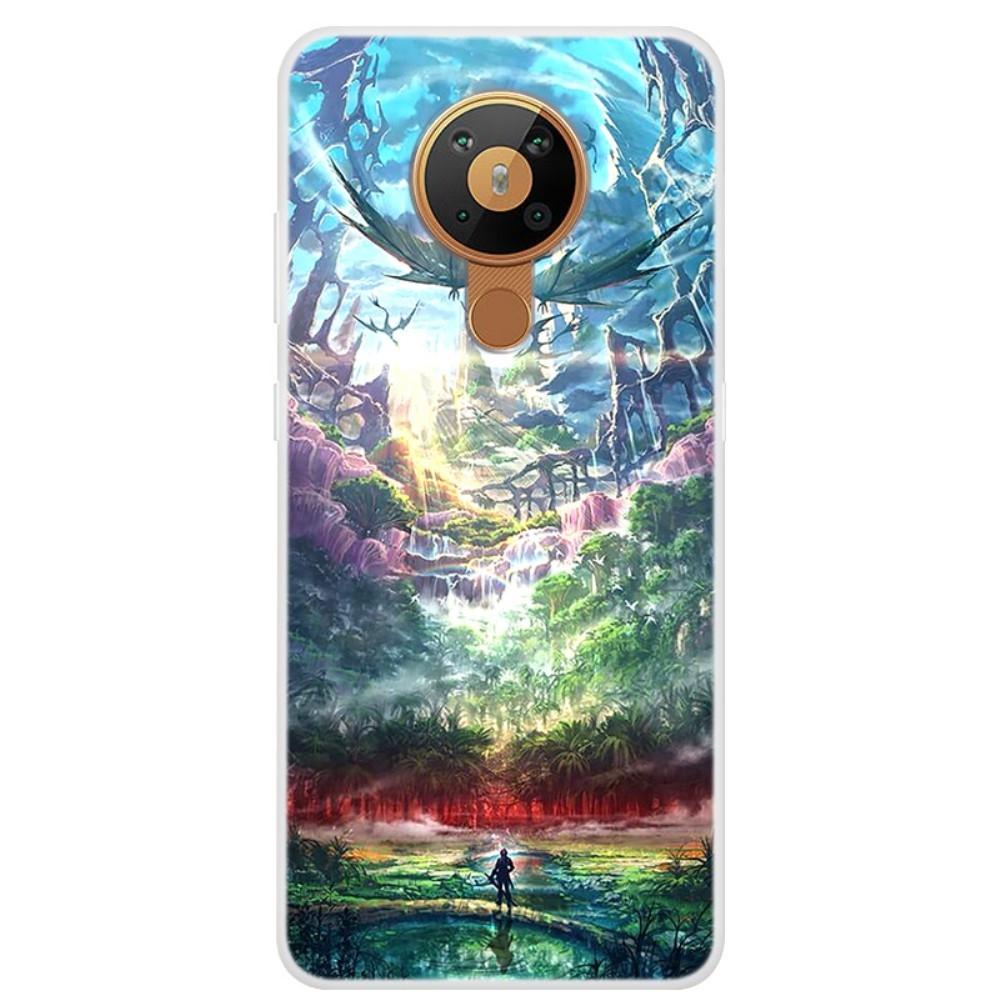 Nokia 5.3 - Gummi cover med printet Design - Drømmeland