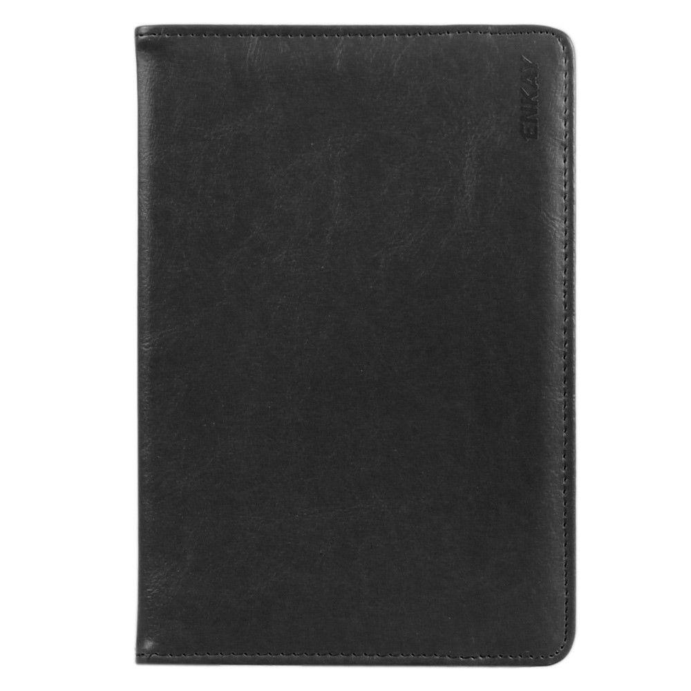 """Image of   ENKAY iPad/tablet læder cover 7-8"""" - Sort"""