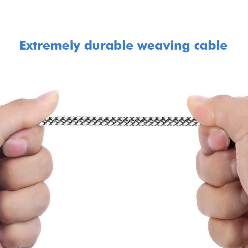 Image of   HAT PRINCE - Type-C 2A oplader Nylon kabel 1m. - Grå