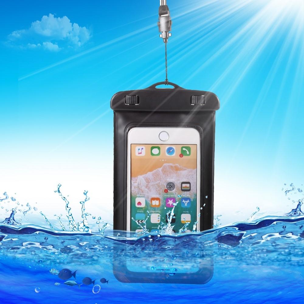 iPhone X/8/8Plus - Universal vandtæt taske / etui 18.5x10 cm - Sort