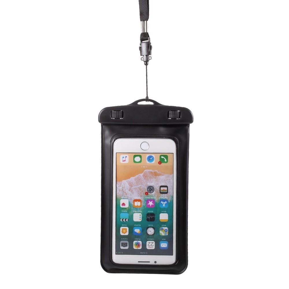 Image of   iPhone X/8/8Plus - Universal vandtæt taske / etui 18.5x10 cm - Sort