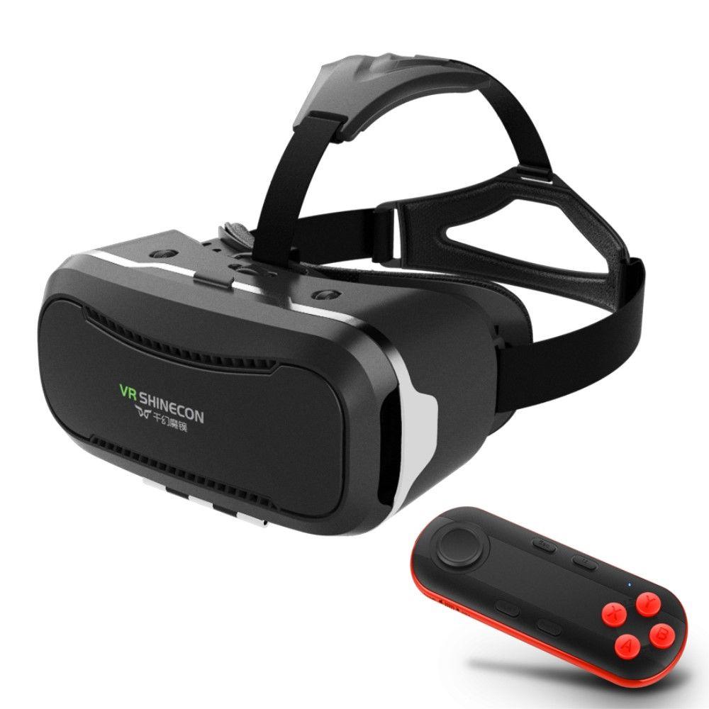 VR SHINECON 2.0 Virtual Reality 3D briller - Sort/rød