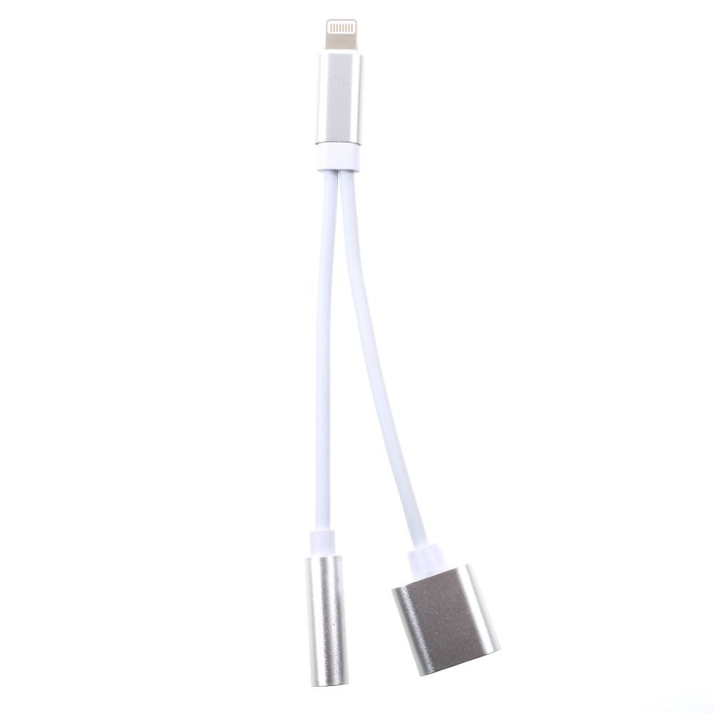 Image of   Lightning 8pin / Audio 3.5mm. adapter - Hvid